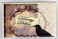 Log in to your Etsy account. Dishwasher Magnet, Clean Dishwasher, Crow, Magnets, Shabby Chic, Victorian, Cleaning, Dishes, Signs