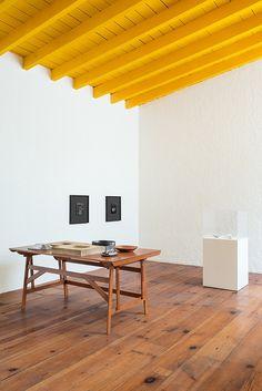 Casa Estudio Luis Barragán Interior Ceiling Wood Beams Yellow