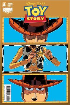 Toy Story Graphic Novel Cover by Nate Watson - Love it, the composition looks like Camera shots!
