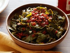 Get Southern Collard Greens Recipe from Food Network Southern Collard Greens, Collard Greens Recipe, Top Recipes, Cooking Recipes, Dinner Recipes, Cajun Recipes, Wing Recipes, Oven Recipes, Skinny Recipes
