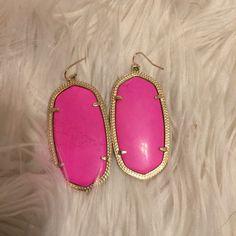 """Pink Kendra Scott """"Danielle"""" Earrings Adorable pink KS earrings. Loved earrings but still in good condition. Kendra Scott Jewelry Earrings"""