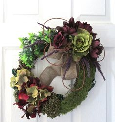 Gorgeous wreath all year wall decor spring by CarolaFlowerDesigns