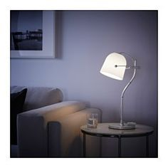 IKEA - SVIRVEL, Table lamp, , You can easily direct the light where you want it because the lamp head is adjustable.Creates a soft, cozy mood light in your room.