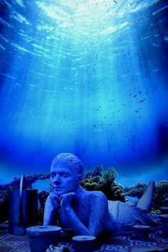 Cancun underwater museum...so cool