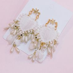 Earring Box, Creative Things, All About Fashion, Unique Earrings, Ring Necklace, Designer Dresses, Imagination, Jewlery, Beading