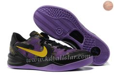 Nike Zoom Kobe VIII 8 555035 706 Mesh Noir Pourpre