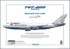 British Airways B747-400 Waves & Cranes