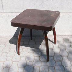 "Iconic Halabala´s coffee table design ""Pavouk"" (spider) before restoration. Coffee Table Design, Furniture Restoration, Vanity Bench, Vintage Furniture, Spider, Stool, Retro, Home Decor, Spiders"