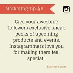#Instagram #Marketing Tip  https://www.socinova.com/search/blog/instagram