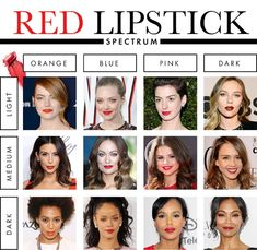 how to find your perfect red lipstick shade (Best Eyeliner Matte) Red Lipstick Shades, Best Lipstick Color, Best Lipsticks, Lipstick Colors, Skin Makeup, Beauty Makeup, Hair Beauty, Makeup Art, Lipsticks