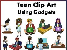 Make your resources come to life with our Teens and Technology Clip art.Excellent to have for high school resources especially those who create resources Meet The Teacher, New Teachers, School Resources, Teaching Resources, Mindfulness Activities, Teacher Notes, Mobile Learning, Classroom Displays, New School Year