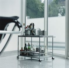 Modern Cart on wheels. Practical and elegant way to entertain your guests. USM Cart. www.softsquare.com
