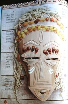 african masks from cardboard - Google Search