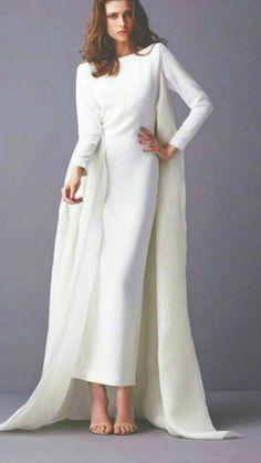 ユニークなスタイルアラビアウェディングドレスで長い袖ラップ2016クルーネック冬秋サテンヴィンテージシースバトーブライダルドレス