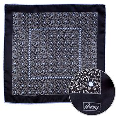 Fine floral filigree brings the finesse, in this Brioni silk pocket square!  |  Get at it! http://www.frieschskys.com/accessories/pocket-squares  |  #frieschskys #mensfashion #fashion #mensstyle #style #moda #menswear #dapper #stylish #MadeInItaly #Italy #couture #highfashion #designer #shopping