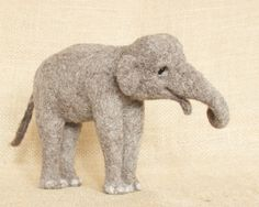 Penelope the Elephant: needle felted animal sculpture
