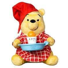 Image result for stuffed Pooh in night shirt
