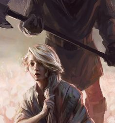 Alive For Art | Artist interview w/ pics! Lane Brown is an award-winning freelance illustrator...Blonde Female Kneels In Front Of Executioner While Holding Hair
