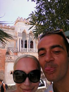 Me And Monika front of villa sticchi