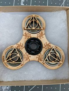 Laser Cut Harry Potter Spinner Bearing is a NEAL BlackOut Ceramic Bearing This spinners inspiration sprouted from a customers imagination and now lives on forever with others If you have any suggestions for future designs, please dont hesitate to suggest something special for you