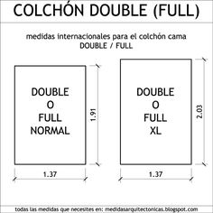 1000 images about dimensiones on pinterest google for Colchon cama doble medidas