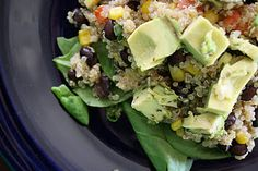 Black bean, quinoa, and avocado salad.  These are a few of my favorite things.