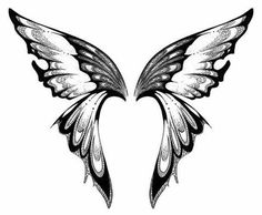 Image result for butterfly wings clipart black and white