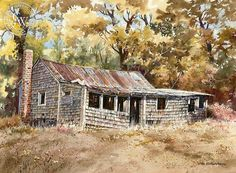 Abandoned, art by John Bohnenberger – California Watercolor