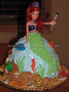 reminds me of the cakes mom would make us, with a bundt cake pan. the cake as the skirt :)