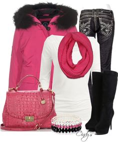 """Love Pink and Black"" by cindycook10 on Polyvore"