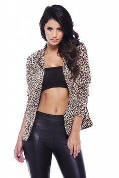 Leopard Print Blazer for £35.00