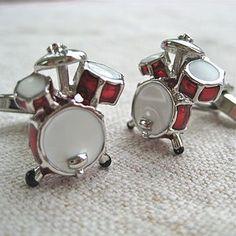 Drum Cufflinks - men's jewellery