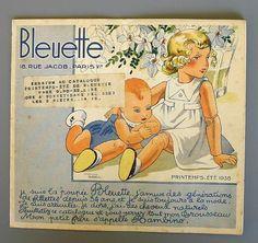 BLEUETTE  ANTIQUE  CLOTHING  CATALOG, 1938_cover