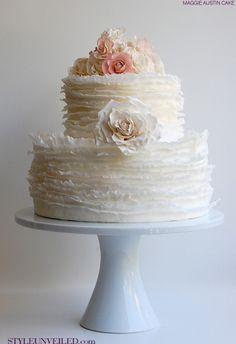 Love ruffle cakes!