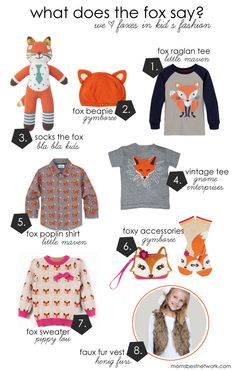 Mom's Best Network: UPDATED!!  Friday Find: We Love Foxes in Kid's Fashion + a giveaway NOW CLOSED