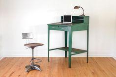 Vintage Green Industrial Shop Desk - Standing Desk