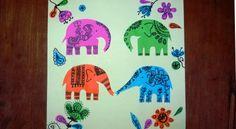 Поделка слон из бумаги (2)