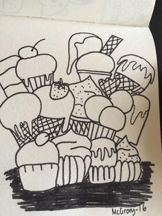 Sugar bomb in doodle art