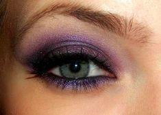 Purple eye Make up :  wedding purple eye shadow Eyemakeup1