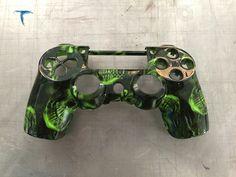 manette ps4 motif zombie fond vert - Manette Ps3 Color