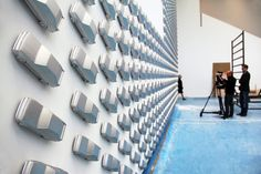 AUDI design wall installation at pinakothek der moderne - designboom | architecture & design magazine