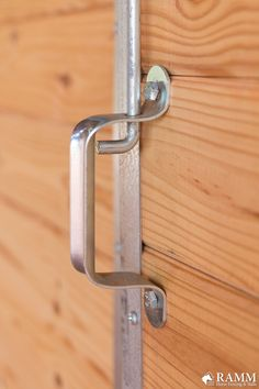 Contoured for a good grip, this door latch handle is made from a heavy-duty galvanized steel and is excellent for large sliding doors! This handle is included in our top door latch kit used with the Oxford & Essex horse stalls series and the RAMM barn door hardware kit. #rammprojects #diy #horsestalls #essexstalls #oxfordstalls #weldedstalls #rammstalls #horses #horsestalls #dreambarn #horsestable #barn #diy #stalldoor #equestrianideas #barndoorhandle