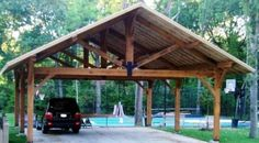 Timber Frame Pergolas, Timber Frame Porches & Pavilions, Custom Timber Pergola, Timber Porch, Timber Pavilion Construction by Trillium Dell