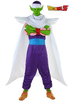 He's a Namekian, a trainer, and Piccolo costume inspired from the Manga anime series is perfect for a fun night out this Halloween. - Dragon Ball Z Piccolo Costume - #DragonBallZCostumes
