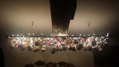 Homemade holiday chandelier