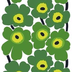 The beautiful classic green oilcloth Unikko from Marimekko is perfect to use all year round, both indoors and outdoors! Also available in other colors.