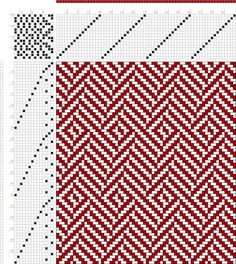 draft image: Page Posselt's Textile Journal, March Loom Yarn, Loom Weaving, Hand Weaving, Knitting Charts, Knitting Stitches, Knitting Patterns, Weaving Patterns, Textile Patterns, Textiles