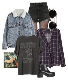 """""""90s grunge"""" by grey-skiess ❤ liked on Polyvore featuring Music Legs, Alexander Wang, Zara and Vagabond"""