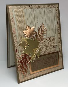Blessed by razldazl - at Splitcoaststampers - (Pin: Glitzy/ Sparkles. Blessed by razldazl - at Splitcoaststampers - (Pin: Glitzy/ Sparkles. Thanksgiving Cards, Holiday Cards, Christmas Cards, Leaf Cards, Stamping Up Cards, Card Sketches, Masculine Cards, Halloween Cards, Cute Cards