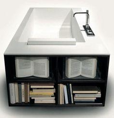 bookcase bathtub  I  biblio by antonio lupi